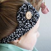 Nähanleitung: Stirnband und Haarspange nähen